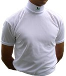 Short Sleeve Jockey Shirt  Turtle Neck with Embroidery  on Neck